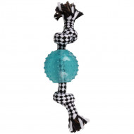 DT DJENGO ROPE WITH BALL TPR BLUE 23cm