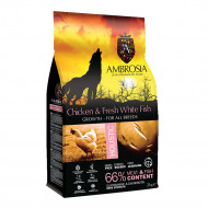 AMBROSIA GROWTH LARGE BREED CHICKEN & FRESH WHITE FISH 2kg