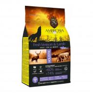 AMBROSIA ADULT FRESH VENISON & LAMB 12kg